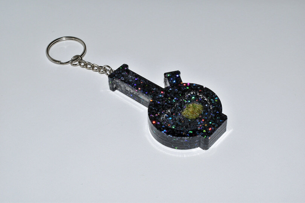 Black Galaxy Bong Keychain
