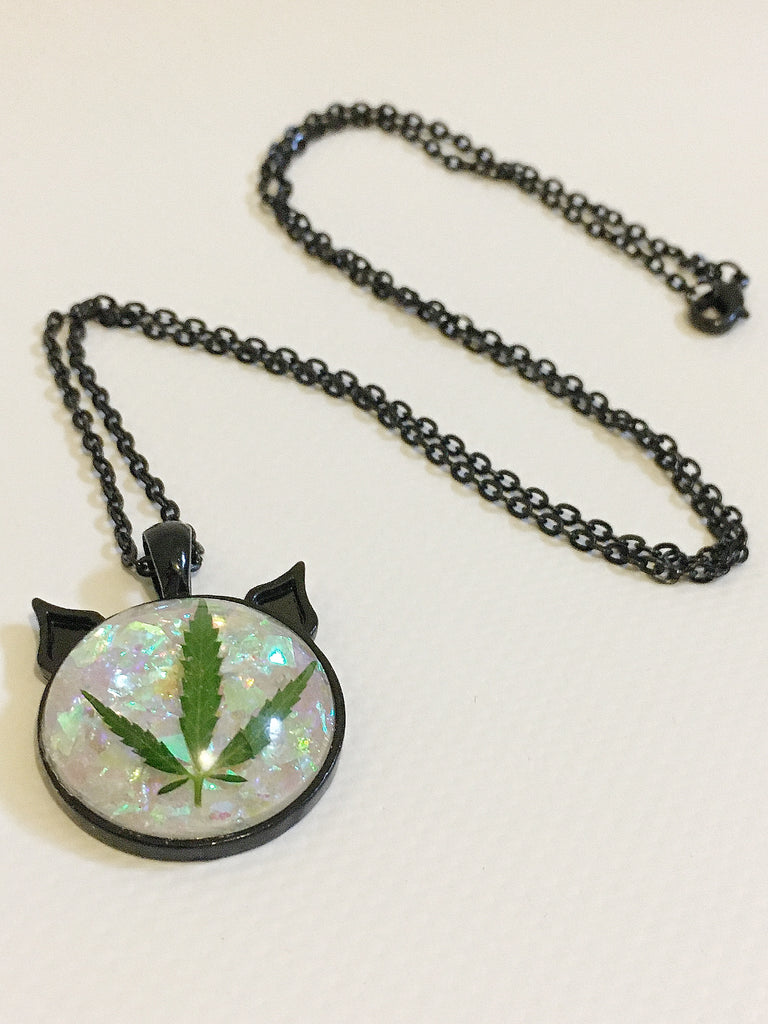 Unicorn Tears Leaf Necklace
