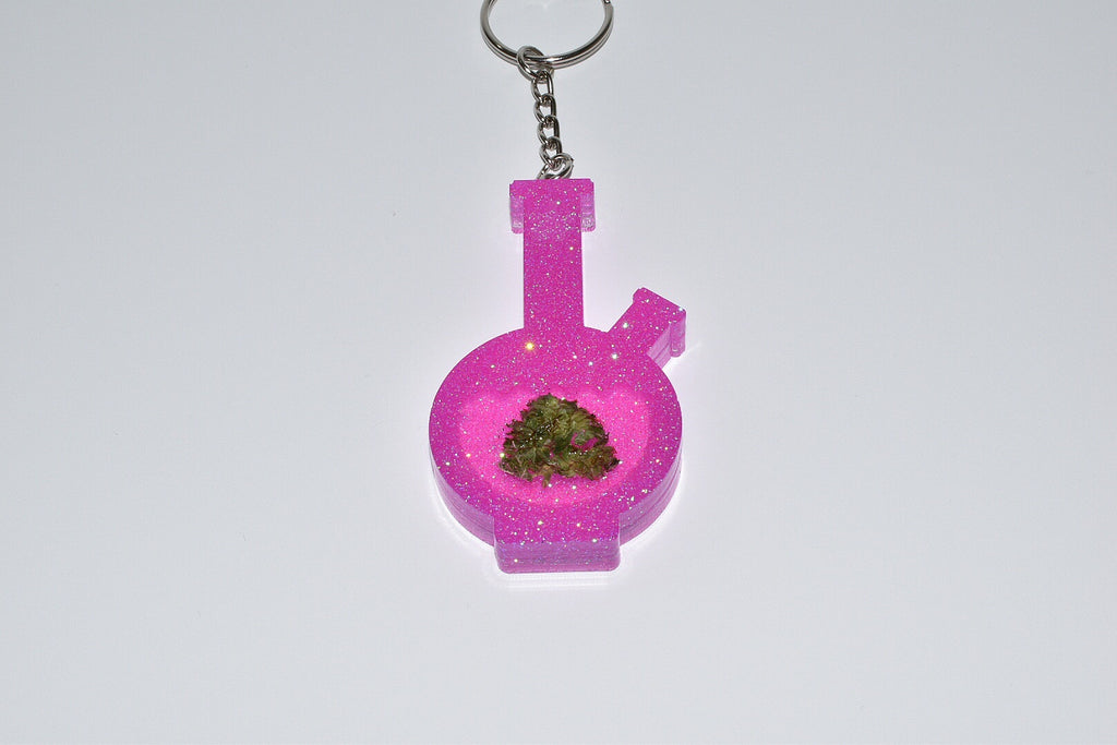 Pink Bong Keychain