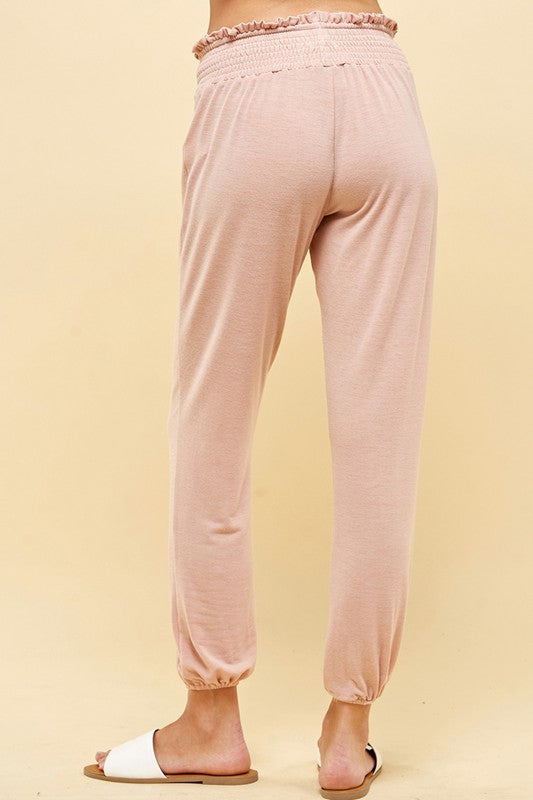 Caliza Smocked Lounge Pants