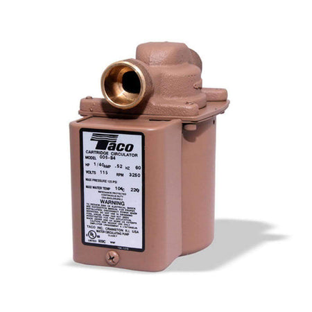 "Taco 006-B4-PNP Bronze Plumb N' Plug Circulator - 1/40 HP - 3/4"" Sweat - wholesalewaterheater"