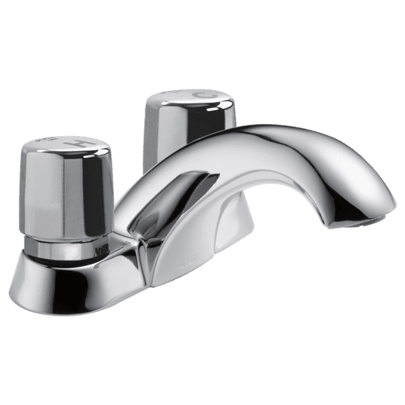 Delta 2507LF-HDF Commercial Slo-Close Bathroom Sink Centerset Faucet - wholesalewaterheater