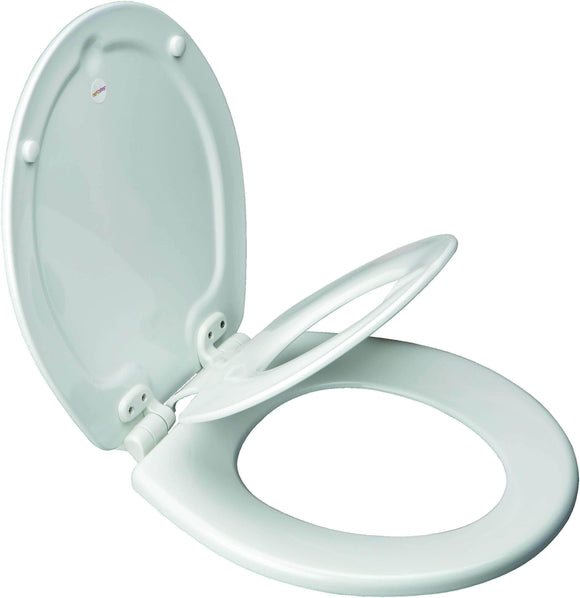Bemis 483SLOW-000 Residential NEXTSTEP Wood Toilet Seat (1583SLOW) WHITE - wholesalewaterheater