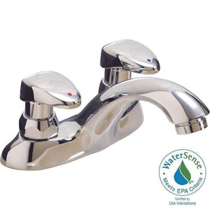 Delta 86T1153 Two Handle Metering Slow-Close Bathroom Sink Faucet - wholesalewaterheater