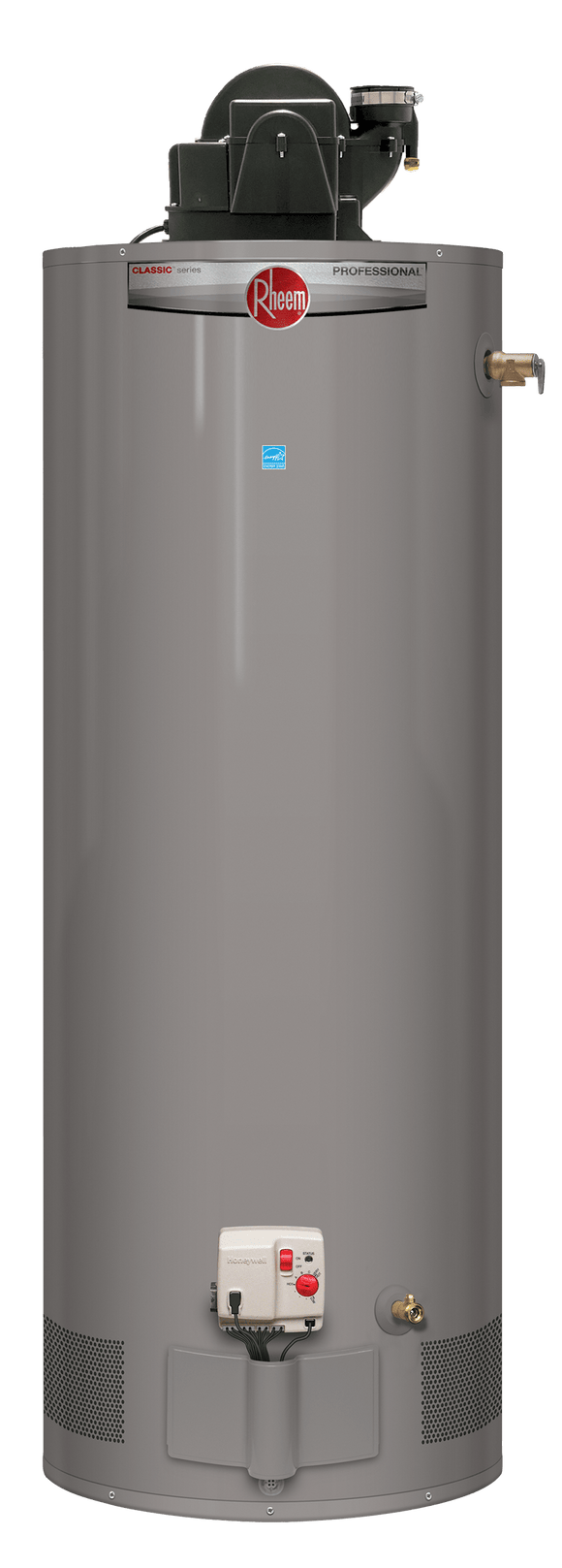 Rheem PROG40-40N RH67 PDV Professional Classic 40 Gallon Tall Residential 6 Year 40,000 BTU Natural Gas Power Direct Vent Water Heater - wholesalewaterheater