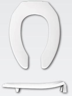 "Bemis 2L2155T Medic-Aid 2"" Elongated Lift Toilet Seat White - wholesalewaterheater"