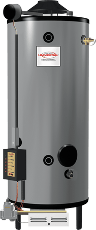 RHEEM G100-200LP Universal 100 Gallon Short Commercial 199,900 BTU Water Heater
