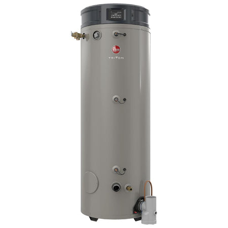 RHEEM GHE100SU-250A Triton SU Base 100 Gallon Intelligent High Efficiency Commercial Gas Water Heater - wholesalewaterheater