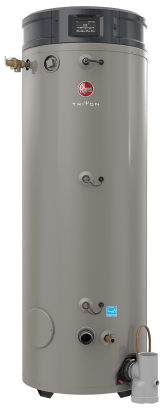 RHEEM GHE100SU-400A Triton SU Base 100 Gallon Intelligent High Efficiency Commercial Gas Water Heater - wholesalewaterheater