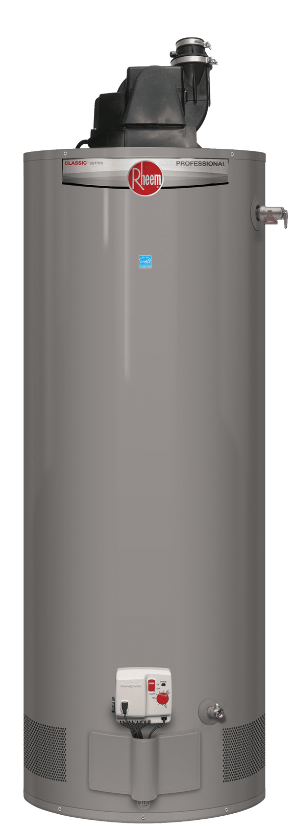 RHEEM PRO+G75-76N RH PV Professional Classic Plus 75 Gallon Tall Residential 8 Year 75,100 BTU Natural Gas Heavy Duty Power Vent Water Heater
