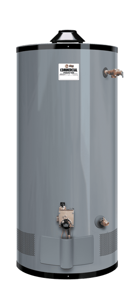 RHEEM G100-80N Medium Duty 100 Gallon Commercial 76,000 BTU Natural Gas Water Heater