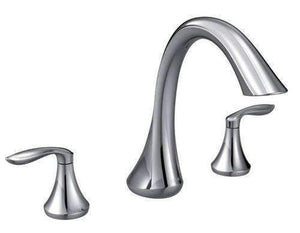 Moen T943 Eva Roman Tub Faucet Two-Handle High Arc Spout TRIM ONLY Chrome