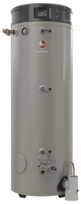 RHEEM GHE100SU-200 Natural Gas Triton 100 Gallon Smart Universal 199,900 BTU Commercial Water Heater - wholesalewaterheater