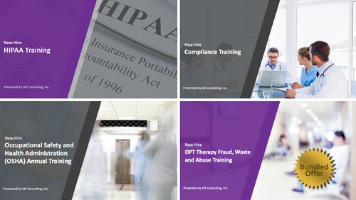 New Hire Series [Bundle]: Training for Outpatient Therapy Providers