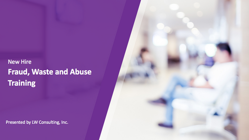 New Hire: Fraud, Waste and Abuse Training for Outpatient Therapy Providers