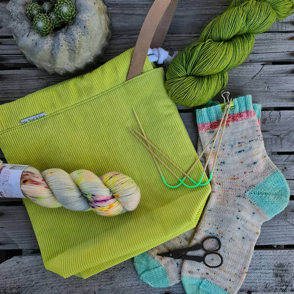 Projektbag Babycord Lime