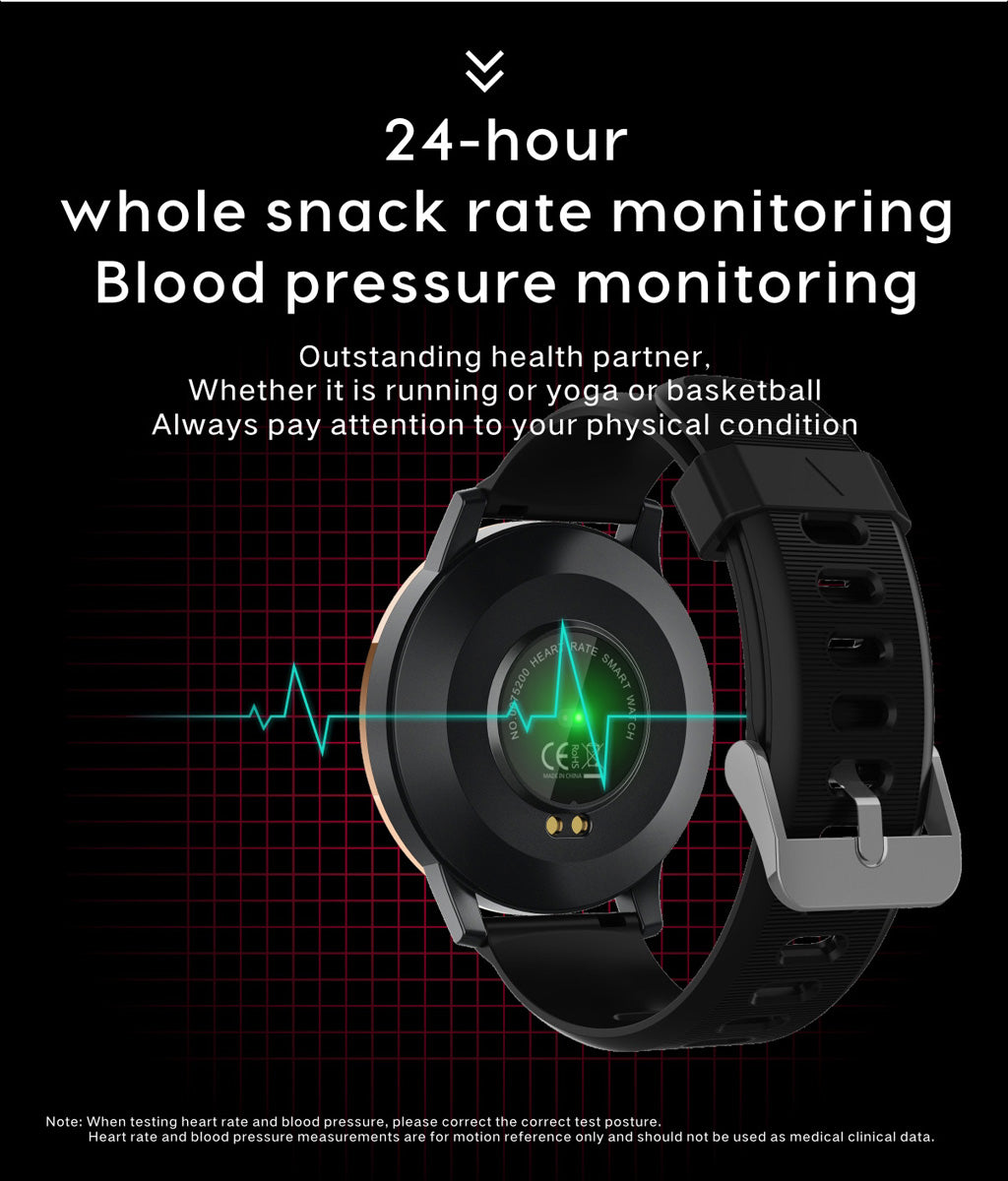 Q20 Women Smart watch Waterproof Blood pressure Heart rate monitor Ladies Men sport smartwatch for Android and IOS