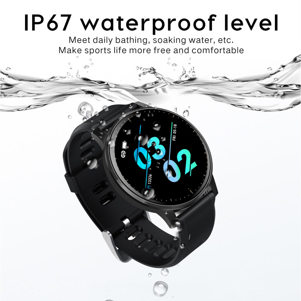 Q20 Smart Watch IP67 Waterproof Full Touch Screen Activity Fitness Tracker Heart Rate Monitor Sports Men Women Smart Band