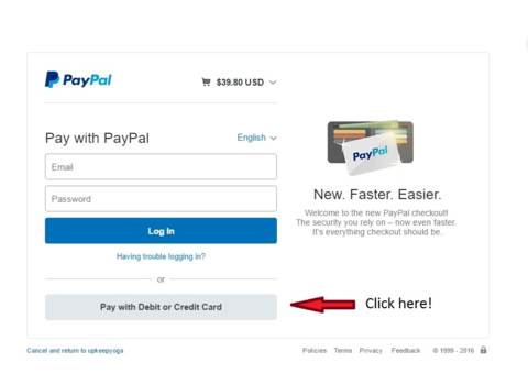 Safe checkout with paypal