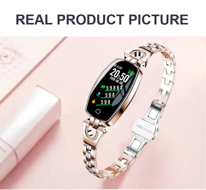 20-H8 smart watch heart rate blood pressure sleep step female color screen waterproof Bluetooth For Android IOS Fitness Bracelet