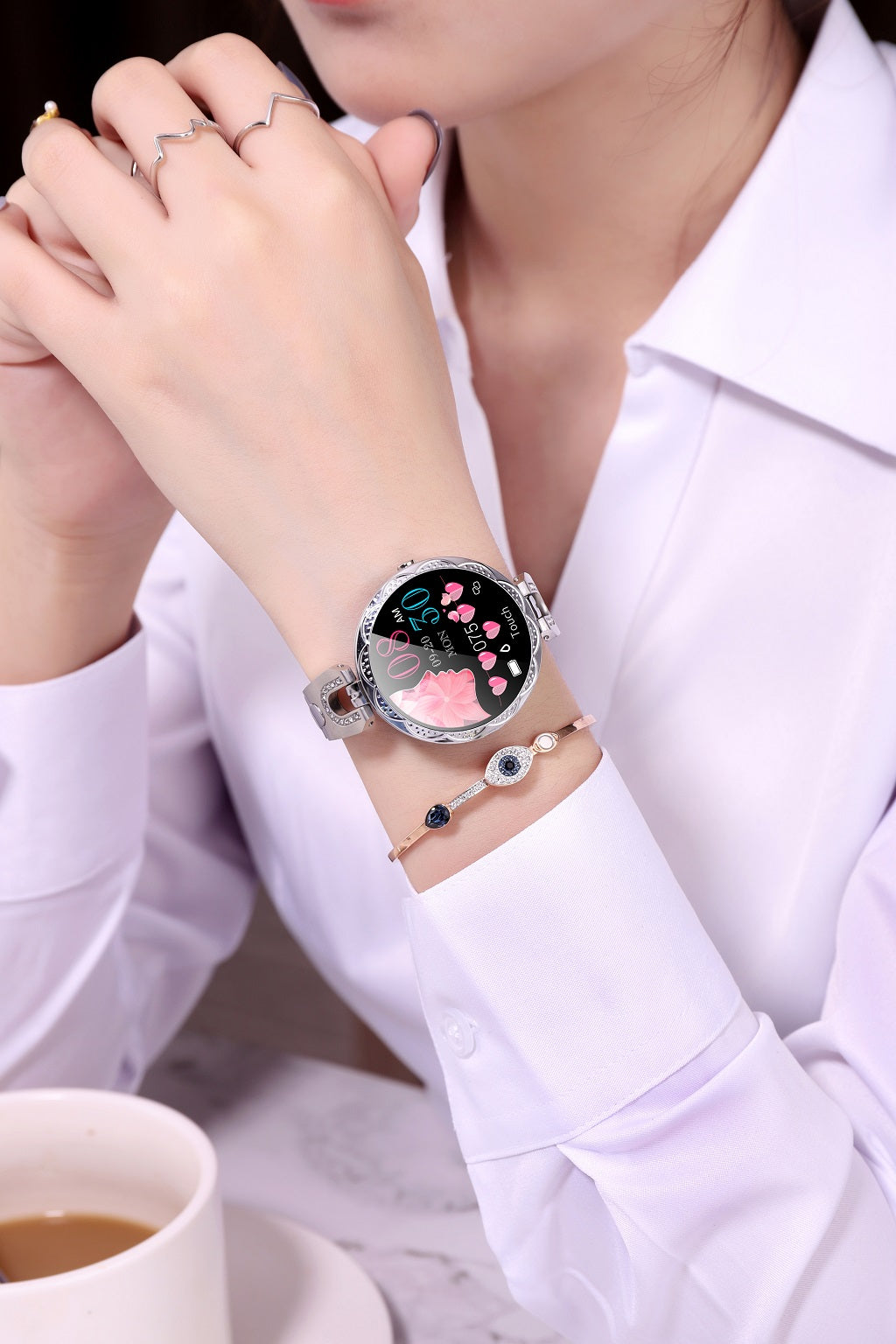 AK15 Smart Health Bracelet Watch Blood Pressure Heart rate Measurement Physiological Monitoring For Women