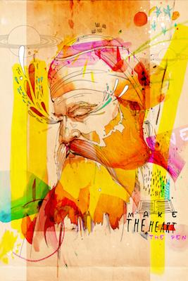 Guru Nanak Dev Ji - Make the Heart the Pen | Inkquisitive Art