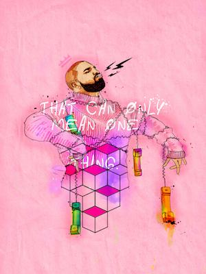 Hotline Bling Drake | Inkquisitive Art