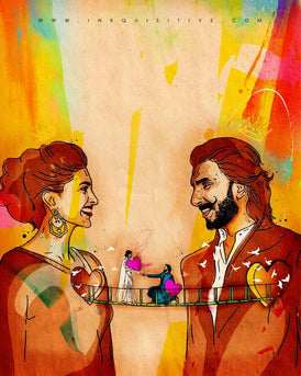 Ranveer and Deepika | Inkquisitive Art