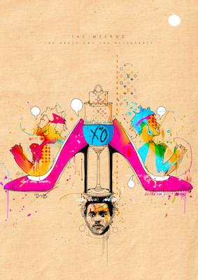 The Weeknd (The Party and Afterparty) | Inkquisitive Art