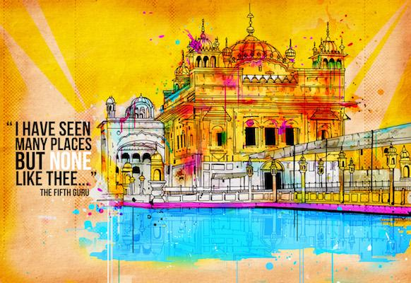 Yellow Delight (Golden Temple) | Inkquisitive Art