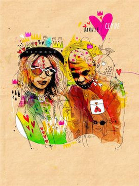 Beyonce and Jay Z | Inkquisitive Art