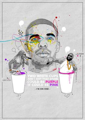 Drake Two White Cups | Inkquisitive Art