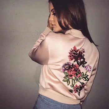 Watch Me Go Floral Bomber