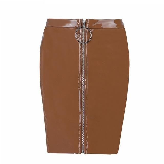 FAWN  PU Leather Skirt