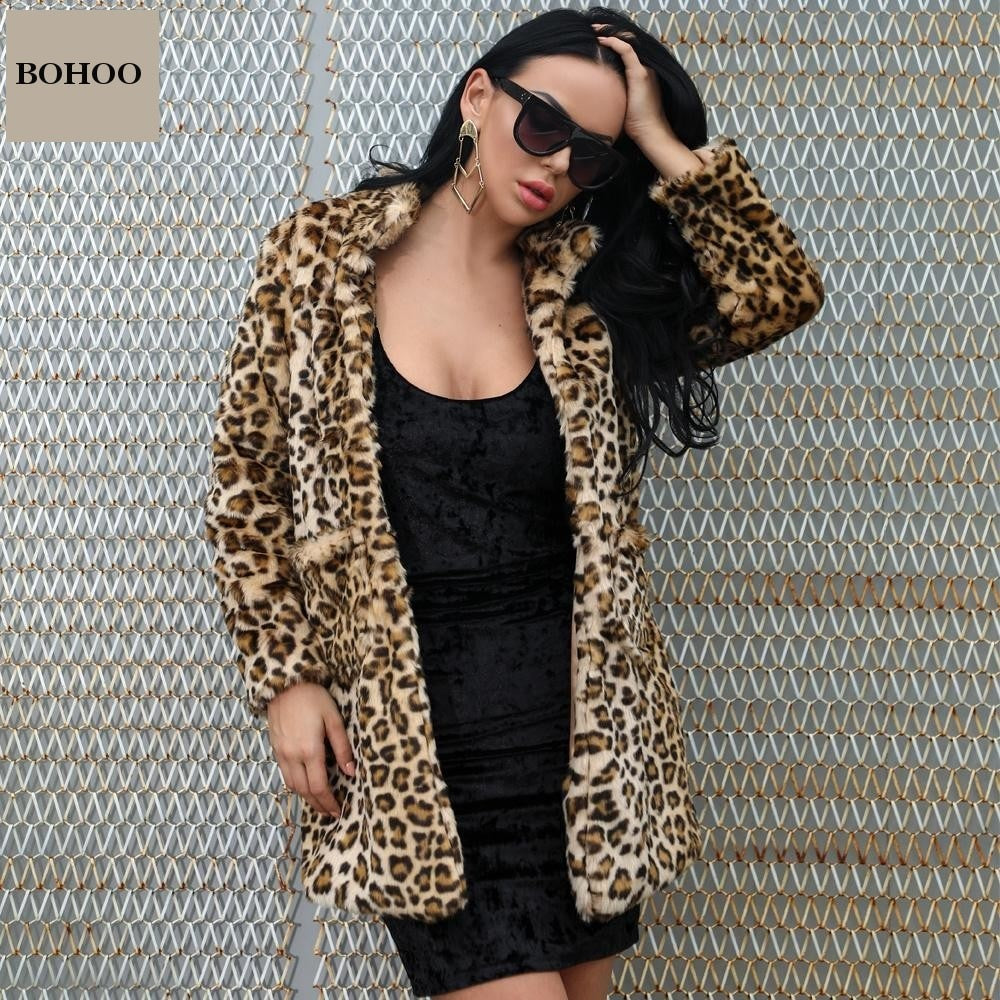 BUFFY Leopard Faux Fur