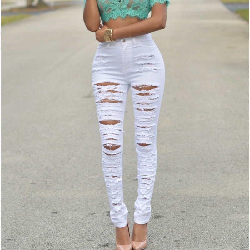 Everyday Ripped Denim Pants