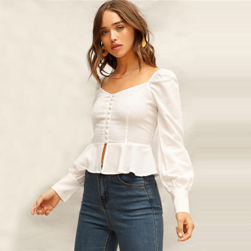 Sexy Feels White Blouse