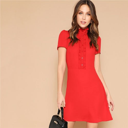 Arina Elegant Red Dress