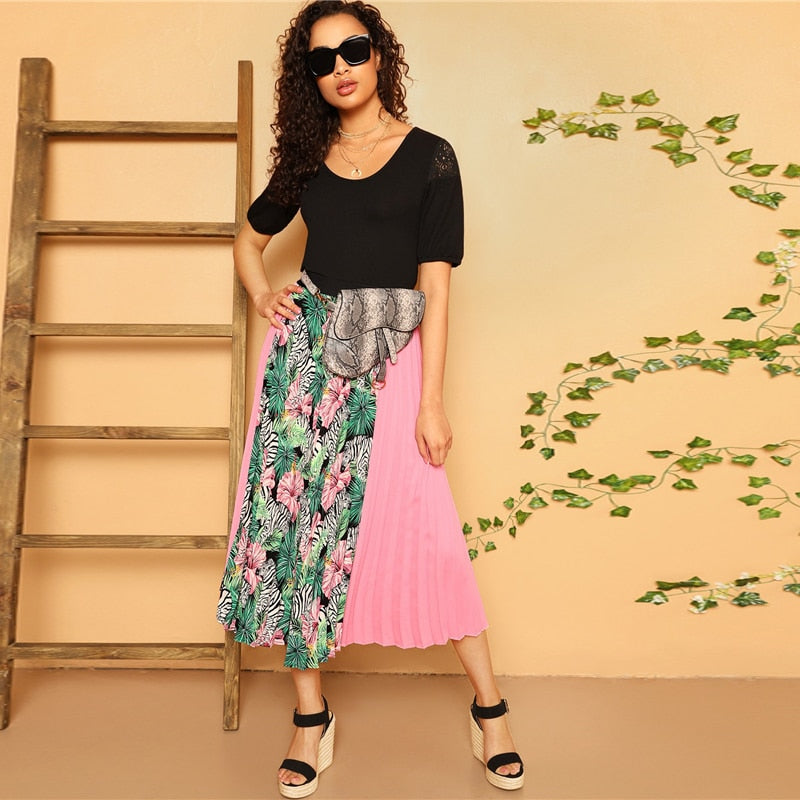 Have Fun And Flirt Mixed Skirt