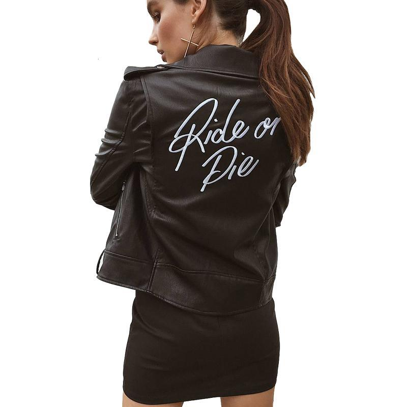 Ride Or Die Faux Leather Jacket