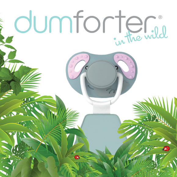 3 in 1 Dumforter (Soother, Teether & Comforter) - Ellie Elephant