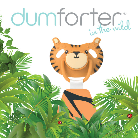 3 in 1 Dumforter (Soother, Teether & Comforter) - Terry Tiger