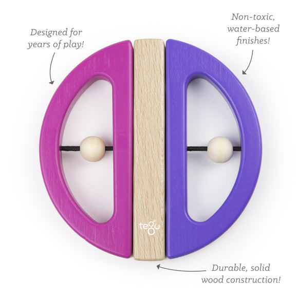 Tegu Swivel Bugs Pink & Purple Magnetic Wooden Blocks