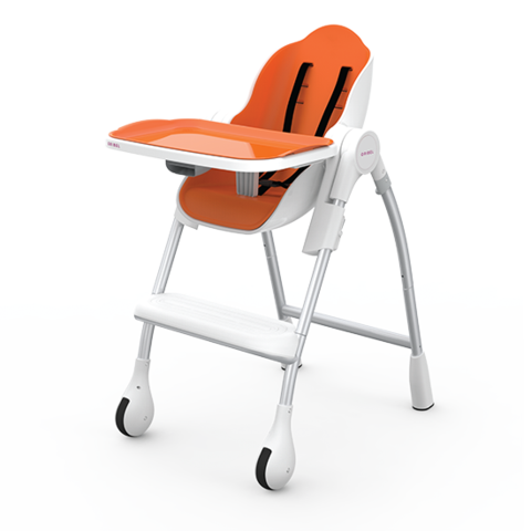 Oribel Cocoon - 3-Stage Highchair - Orange