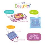 EasyMat Mini Portable Suction Plate - Buttercup