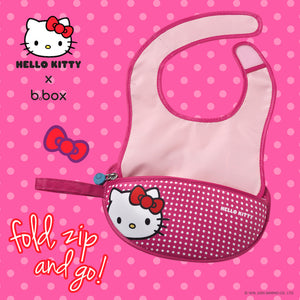 b.box x Hello Kitty Travel Bib with spoon - Pop Star