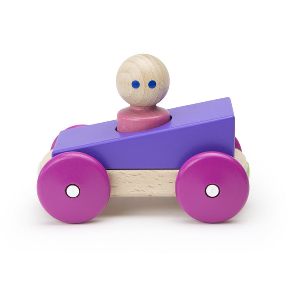 Tegu Magnetic Racers Purple Racers Wooden Blocks