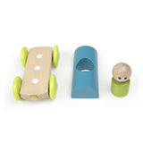 Tegu Magnetic Racers Teal Racer Wooden Blocks