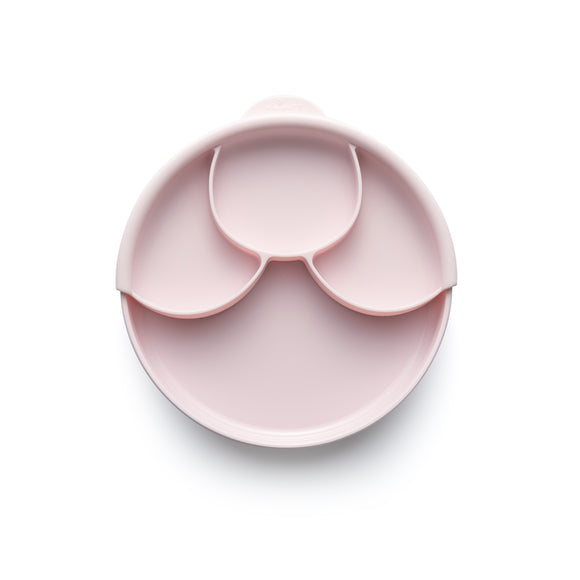 Miniware Healthy Meal Set - PLA Smart Divider Suction Plate + Silicone Divider in Cotton Candy