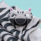 3 in 1 Dumforter (Soother, Teether & Comforter) - Zsa Zsa Zebra